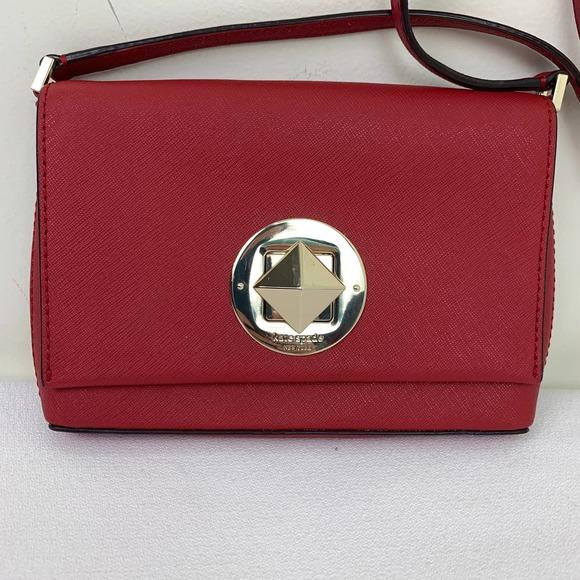 Kate Spade deep red newbury small crossbody purse